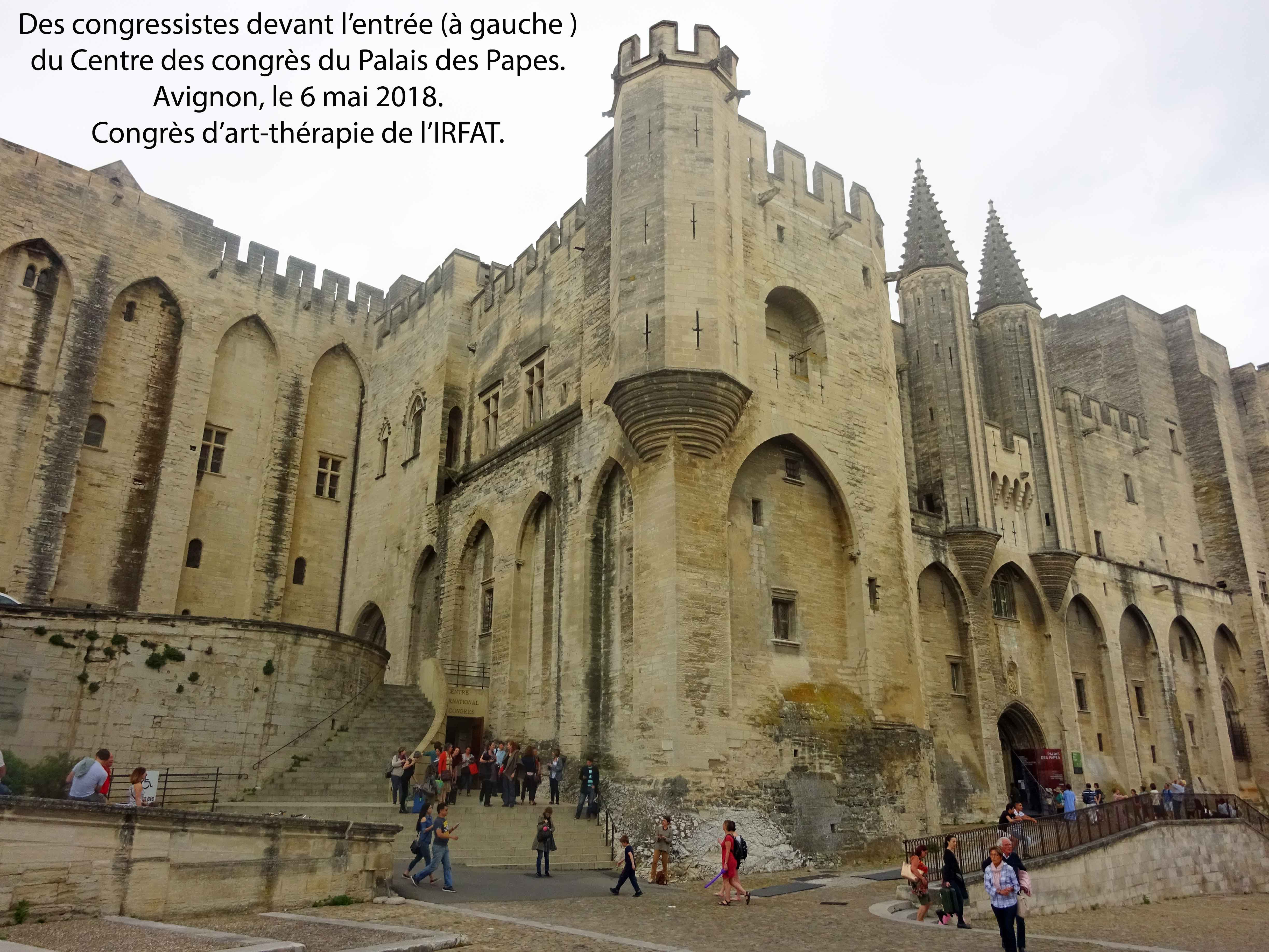palais des papes d avignon les 5 et 6 mai 2018 psy cause au congr s d art th rapie de l irfat. Black Bedroom Furniture Sets. Home Design Ideas
